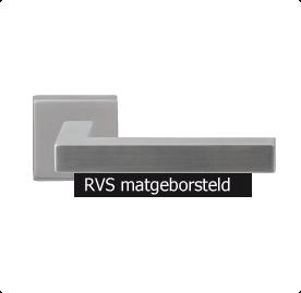 Een RVS-matgeborstelde deurkruk